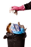 Hand throwing rubbish Royalty Free Stock Photos