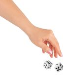 Hand Throwing Two Dices Royalty Free Stock Images