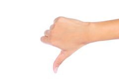 Hand with thumb down Stock Photography