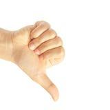 Hand thumb down Stock Photo