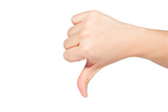 Hand thumb down Royalty Free Stock Image