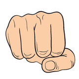 Hand with thumb finger, Symbol Hands compressed in a fist. Vector Illustration Royalty Free Stock Photos