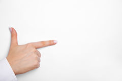 Hand with thumb and index finger Royalty Free Stock Images