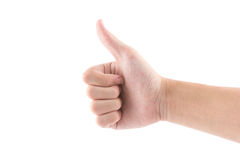 The hand with thumb symbol is like on white. The isolated of the hand with thumb symbol is like on white background Royalty Free Stock Photos