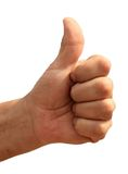 Hand with thumb up Stock Image
