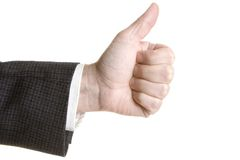 Hand with thumb up Royalty Free Stock Photos