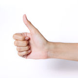 Hand thumb up Stock Photo