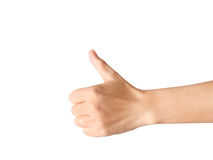 Hand with thumb up Stock Photos