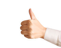 Hand with thumb up Royalty Free Stock Image