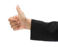 Hand with thumb up Stock Images