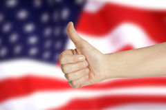 Hand with thumb up Royalty Free Stock Photo