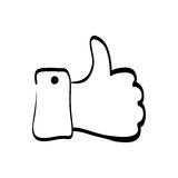 Hand thumb up. Icon  illustration graphic design Stock Photography