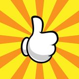 Hand with thumb up Royalty Free Stock Images