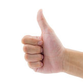 hand with thumb up isolated royalty free stock photography