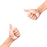 Hand thumb up like concept isolated Stock Image