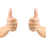 Hand thumb up like concept isolated Stock Images