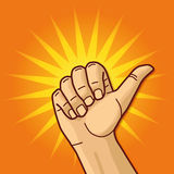 Hand with thumb up. And optimism royalty free illustration
