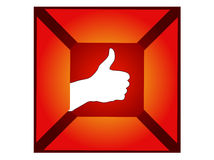 Hand thumb up sign Stock Photo