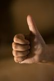 Hand-thumbs up. Close up shot Royalty Free Stock Images