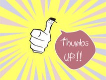 Hand thumbs up Stock Images