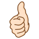 Hand thumbs up Vector. Hand draw hand thumbs up Vector Royalty Free Stock Image