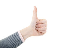 Hand with thump up Stock Photography