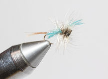 Hand tied fishing fly Stock Photo