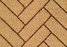 Hand Woven Sisal Rug Detail. Hand Tied Intricate Pattern Woven Knotted Sisal Three Dimensional Rug Detail stock photography