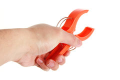 Hand tightening a clamp Royalty Free Stock Photos