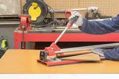 Hand Tile Cutter Stock Photography