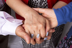 Hand To And Support Each Other Sign Royalty Free Stock Images