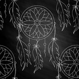 Hand to draw a seamless pattern Dreamcatcher Royalty Free Stock Photo