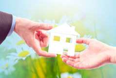 From hand to hand the house. Royalty Free Stock Photo