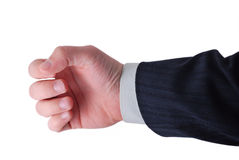 Hand to hold anything inside. Businessman hand ready to hold anything inside Stock Photo