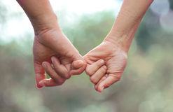Hand. To pinky swear vintage style Stock Photos