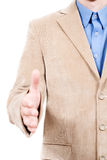 Hand to shake Stock Photo