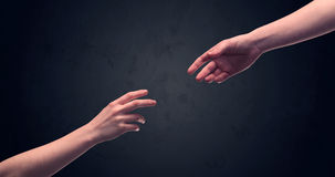 Hand about to touch another one Royalty Free Stock Photo