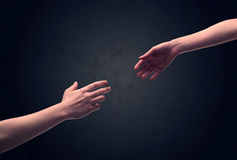 Hand about to touch another one Stock Photos
