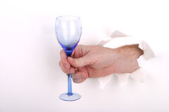 Hand Toast on White. Hand making a Toast stock photos
