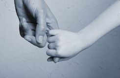 Hand together. Love family sign Royalty Free Stock Images