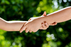 Hand together Royalty Free Stock Photo
