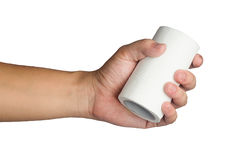 Hand with toilet paper Royalty Free Stock Images