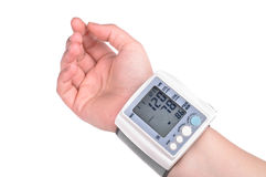 The hand with the tonometer Stock Image