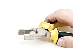 Hand tool. Isolated hand tool on white background Stock Photo