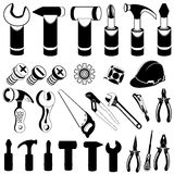 Hand tool black icons Stock Photo