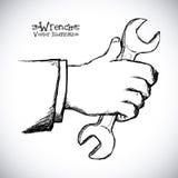 Hand tool design Stock Photography