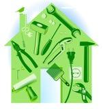 Hand tool house Stock Photos