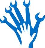 Hand tool logo vector illustration