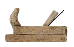 Hand Tool - Old Wood Planer Royalty Free Stock Photos