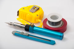 Hand tool for repairing electrical wiring Royalty Free Stock Image